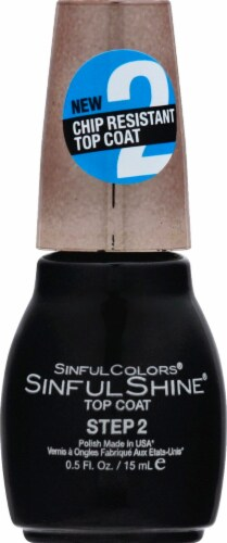 Sinful Colors Step 2 Topcoat Nail Polish Perspective: front