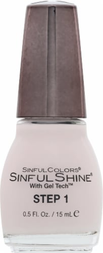 Sinful Colors Sinful Shine Tutu Thrill Step 1 Nail Polish Perspective: front