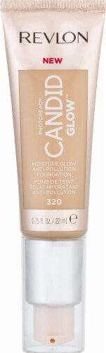 Revlon Photo Ready Candid Moist Glow 320 Tawny Foundation Perspective: front