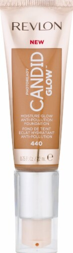 Revlon Photo Ready Candid Moist Glow 440 Caramel Foundation Perspective: front