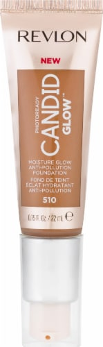 Revlon Photo Ready Candid Moist Glow 510 Cappuccino Foundation Perspective: front