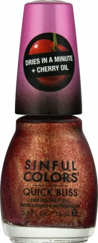 Sinful Colors Quick Bliss Flushed Nail Polish Perspective: front