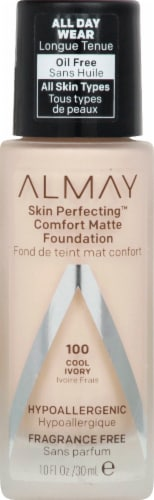 Almay Skin Perfecting 100 Cool Ivory Comfort Matte Foundation Perspective: front
