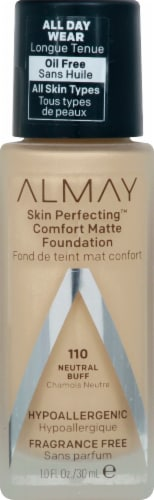 Almay Skin Perfecting 110 Neutral Buff Comfort Matte Foundation Perspective: front