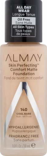 Almay Skin Perfecting 140 Cool Bare Comfort Matte Foundation Perspective: front