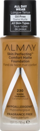 Almay Skin Perfecting Comfort Matte Warm Caramel Foundation Perspective: front
