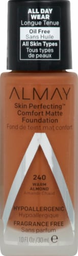 Almay Skin Perfecting 240 Warm Almond Comfort Matte Foundation Perspective: front