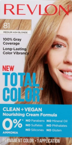 Revlon Total Color 81 Medium Ash Blonde Hair Color Perspective: front