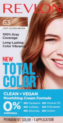Revlon Total Color 63 Light Golden Brown Permanent Hair Color Perspective: front