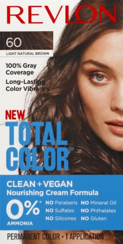 Revlon Total Color 60 Light Natural Brown Permanent Hair Color Kit Perspective: front