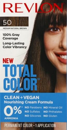 Revlon Total Color 50 Medium Natural Brown Permanent Hair Color Kit Perspective: front