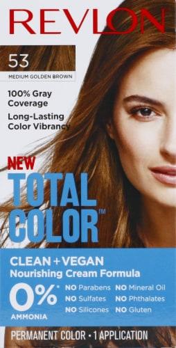 Revlon Total Color 53 Medium Golden Brown Permanent Hair Color Perspective: front