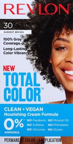 Revlon Total Color 30 Darkest Brown Permanent Hair Color Perspective: front