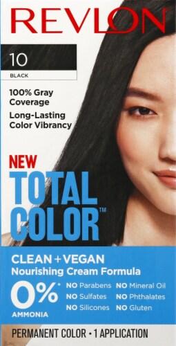 Revlon Total Color 10 Black Permanent Hair Color Perspective: front