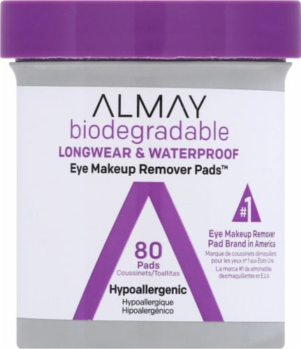 Almay Biodegradable Eye Makeup Remover Pads Perspective: front