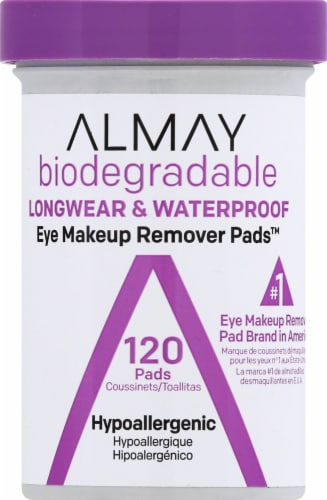 Almay Biodegradable Longwear & Waterproof Eye Makeup Remover Pads Perspective: front