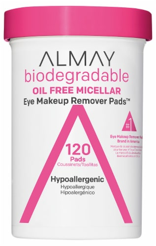 Almay Biodegradable Oil Free Micellar Eye Makeup Remover Pads Perspective: front