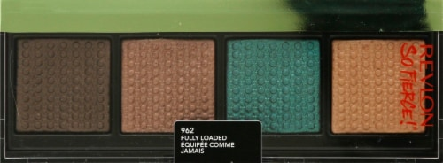 Revlon Prismatic Quad Fully Loaded Eyeshadow Palette Perspective: front