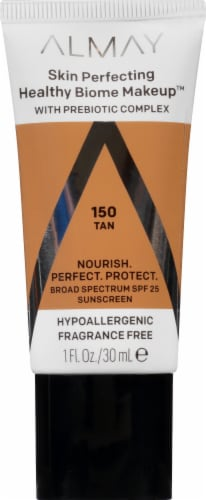Almay Skin Perfecting Healthy Biome Makeup 150 Tan Foundation Perspective: front