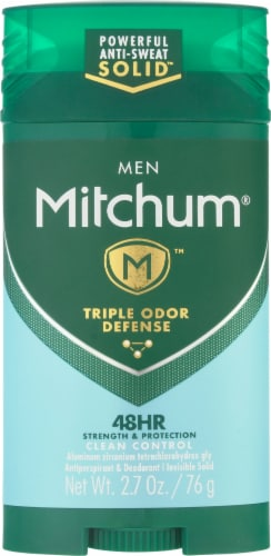 Mitchum Men Advanced Control Clean Scent Invisible Solid Perspective: front