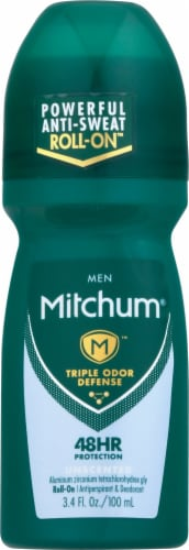 Mitchum Men Advanced Control Unscented Roll On Deodorant Perspective: front