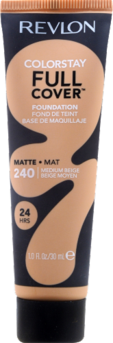 Revlon ColorStay Full Cover 240 Medium Beige Foundation Perspective: front