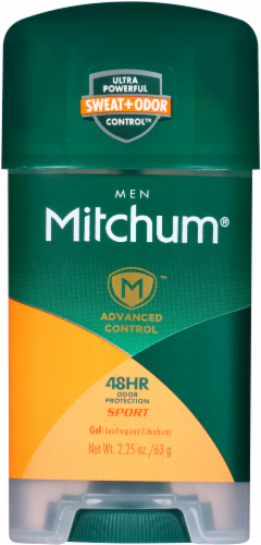 Mitchum Men Advanced Control Sport Gel Deodorant Perspective: front