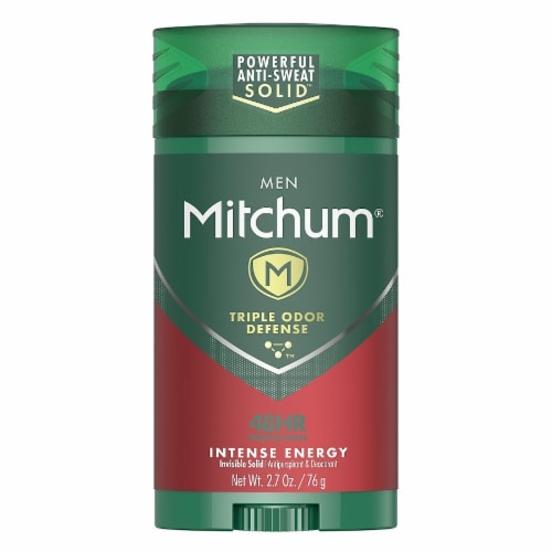 Mitchum Men Triple Odor Defense Intense Energy Invisible Solid Deodorant Perspective: front