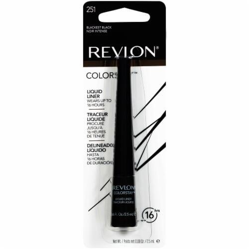 Revlon Colorstay Blackest Black Liquid Eyeliner Perspective: front