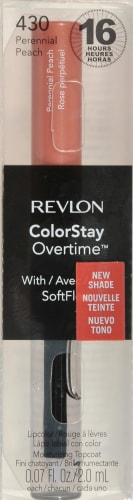 Revlon ColorStay Overtime 430 Perennial Peach Lipstick Perspective: front