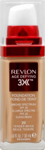 Revlon Age Defying 3X 20 Tender Beige Foundation Perspective: front