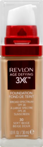 Revlon Age Defying 3X 30 Soft Beige Foundation Perspective: front