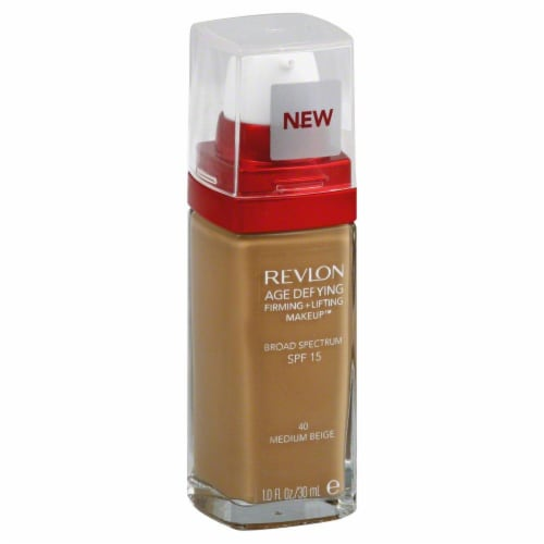 Revlon Age Defying 40 Medium Beige Firming & Lifting Liquid Makeup Perspective: front