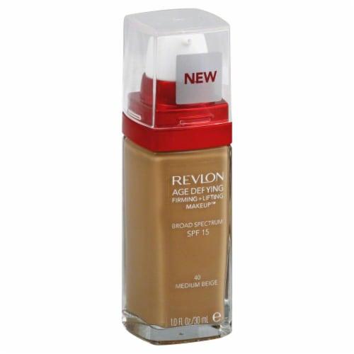 Revlon Age Defying 40 Medium Beige Firming & Lifting Liquid Makeup Perspective: front