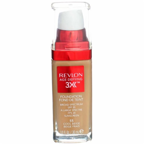 Revlon 55 Cool Beige Age Defying + Lifting Makeup SPF 15 Perspective: front