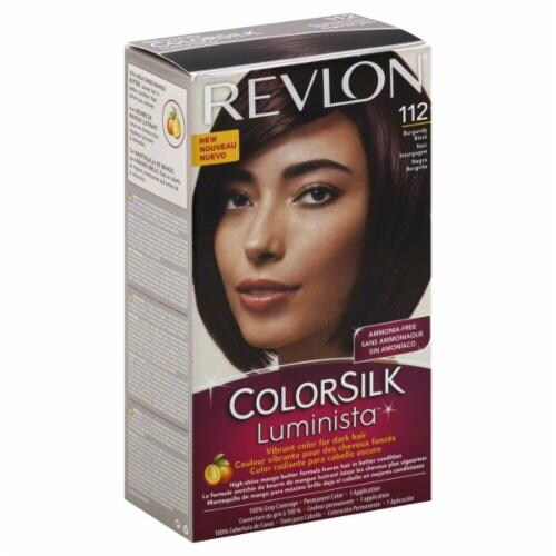 Revlon Color Silk Luminista Burgundy Black 112 Hair Color Perspective: front