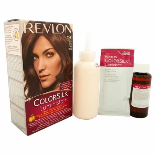 Revlon colorsilk Luminista #120 Golden Brown Hair Color 1 Application Perspective: front