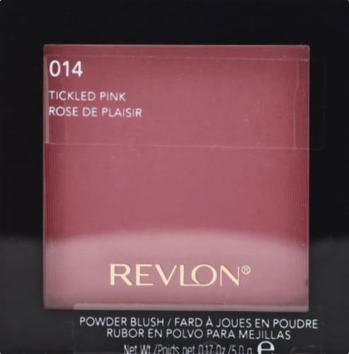 Revlon 014 Tickled Pink Shimmer Powder Blush Perspective: front