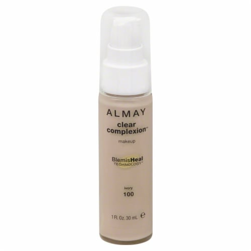 Almay Clear Complexion 100 Ivory Liquid Makeup Perspective: front