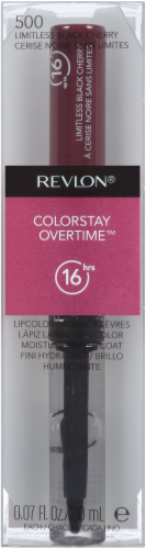 Revlon Colorstay Overtime 500 Limitless Black Cherry Lipcolor Perspective: front