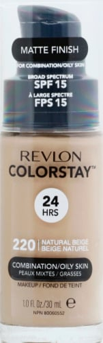 Revlon Colorstay 220 Natural Beige Combination/Oily Skin Makeup Perspective: front