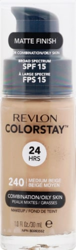 Revlon ColorStay Medium Beige Combination / Oily Skin Makeup Perspective: front
