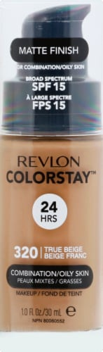 Revlon Colorstay Combination/Oily Skin True Beige Foundation Makeup Perspective: front