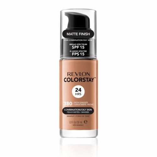 Revlon Colorstay Makeup Foundation Combination/Oily Skin Rich Ginger Perspective: front