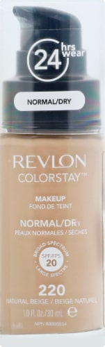 Revlon Colorstay Natural Beige 220 Normal / Dry Skin Liquid Foundation Perspective: front