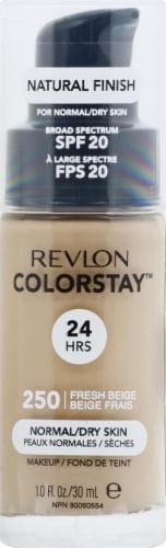 Revlon Colorstay Fresh Beige 250 Normal / Dry Skin Liquid Foundation Perspective: front