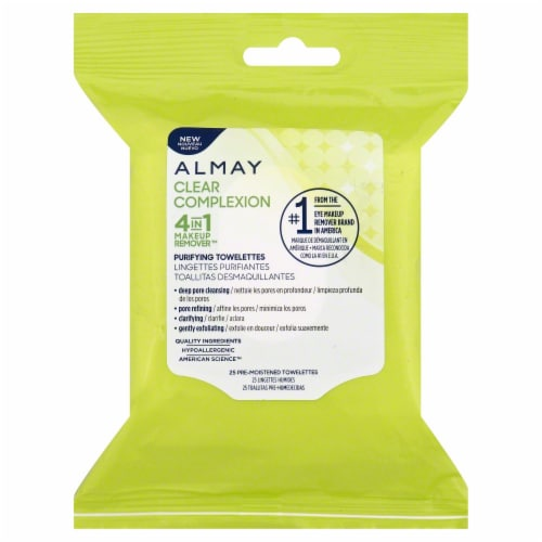 Almay Clear Complexion Cleansing Makeup Remover Towelettes Perspective: front