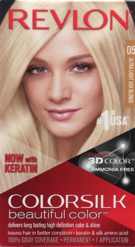 Revlon ColorSilk 05 Ultra Light Ash Blonde Hair Color Perspective: front