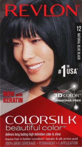 Revlon Colorsilk Natural Blue Black 12 Hair Color Perspective: front