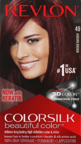 Revlon Colorsilk 49 Auburn Brown Hair Dye Perspective: front